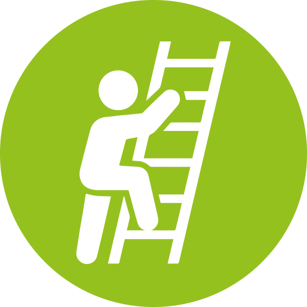Fewer ladder climbs